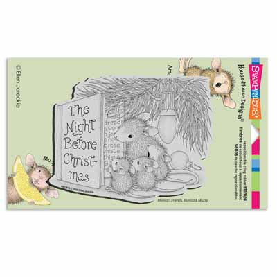 CLING CHRISTMAS STORY - House-Mouse Rubber Stamp