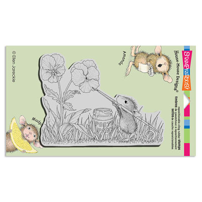 CLING PAINTED PANSIES - House-Mouse Rubber Stamp