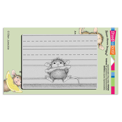 CLING CHALK IT UP - House-Mouse Rubber Stamp