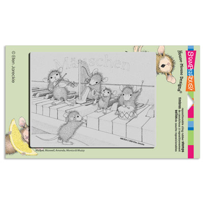 CLING Musical Mice - House-Mouse Rubber Stamp