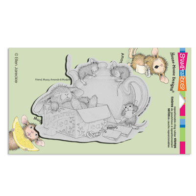 CLING Chamomile Nap - House-Mouse Rubber Stamp