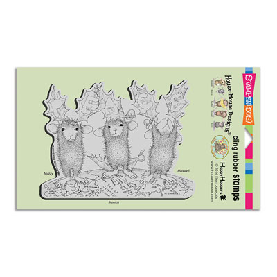 CLING PEACE ON EARTH - House-Mouse Rubber Stamp