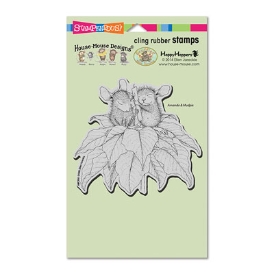 CLING POINSETTIA CANDLE - House-Mouse Rubber Stamp