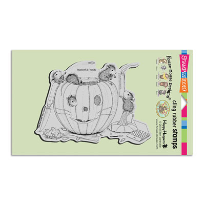 CLING PUMPKIN CARVING - House-Mouse Rubber Stamp
