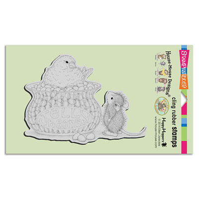 CLING JELLY BEAN BIRD - House-Mouse Rubber Stamp