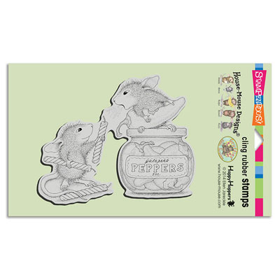 CLING PEPPER POWER - House-Mouse Rubber Stamp
