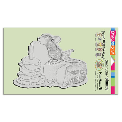 CLING GOUDA WISH - House-Mouse Rubber Stamp