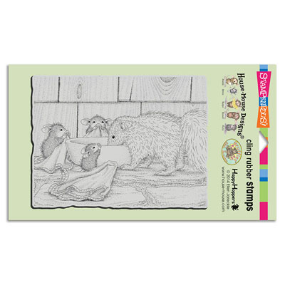 CLING ODORABLE FRIEND - House-Mouse Rubber Stamp