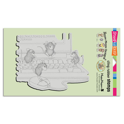 CLING COMPUTER MICE - House-Mouse Rubber Stamp