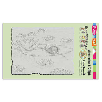 CLING LILY PAD LIFE - House-Mouse Rubber Stamp