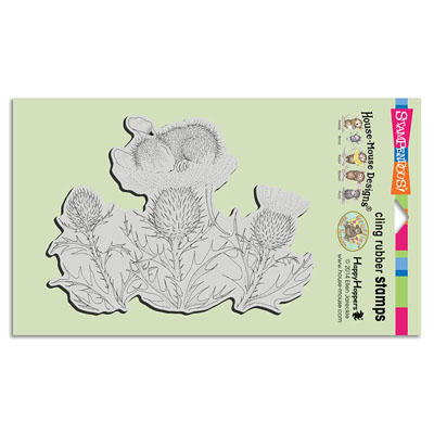 CLING THISTLE NAP - House-Mouse Rubber Stamp