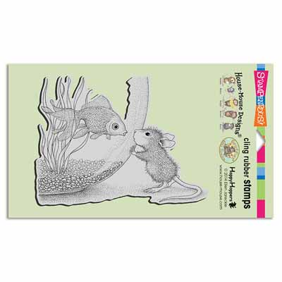 CLING FISHY KISS - House-Mouse Rubber Stamp