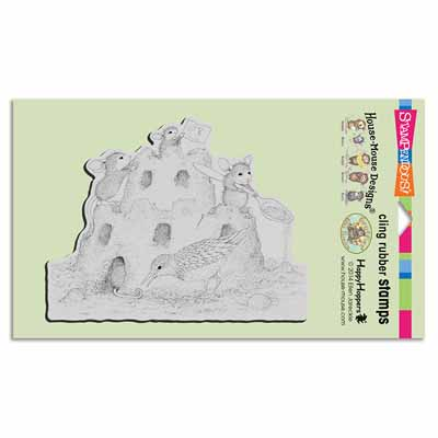 CLING CASTLE CONSTRUCTION - House-Mouse Rubber Stamp