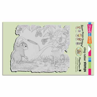 CLING SQUIRREL SHOWERS - House-Mouse Rubber Stamp