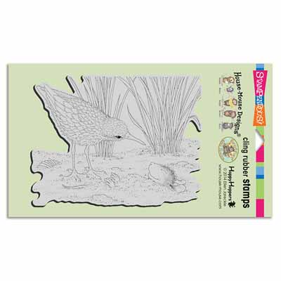 CLING SANDPIPER HELLO - House-Mouse Rubber Stamp