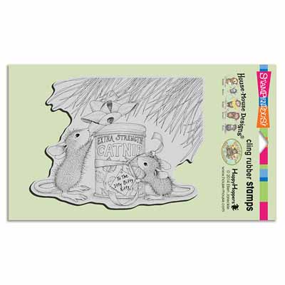 CLING CATNIP GIFT - House-Mouse Rubber Stamp