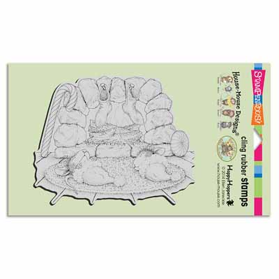 CLING HEARTH NAP - House-Mouse Rubber Stamp
