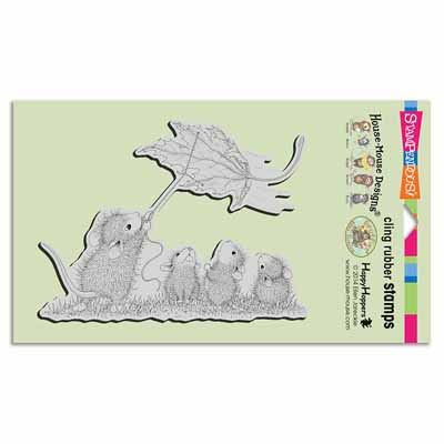 CLING LEAF KITE - House-Mouse Rubber Stamp