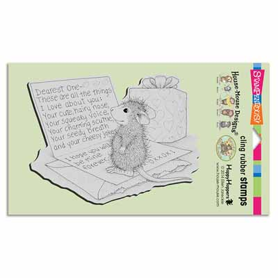 CLING DEAREST ONE - House-Mouse Rubber Stamp