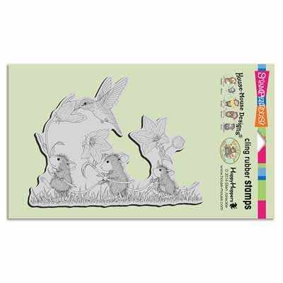 CLING TAG ALONG TRIO - House-Mouse Rubber Stamp