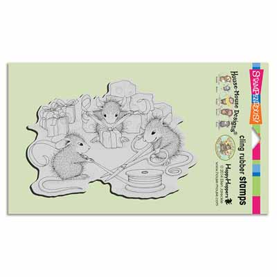 CLING CHEESE WRAPPERS - House-Mouse Rubber Stamp