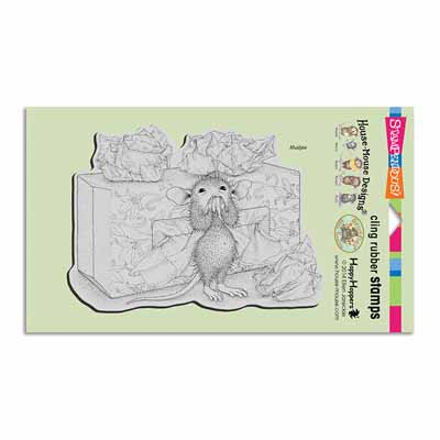 CLING TISSUE BOX - House-Mouse Rubber Stamp