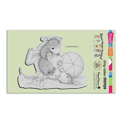 CLING SUNBLOCK SQUIRT - House-Mouse Rubber Stamp