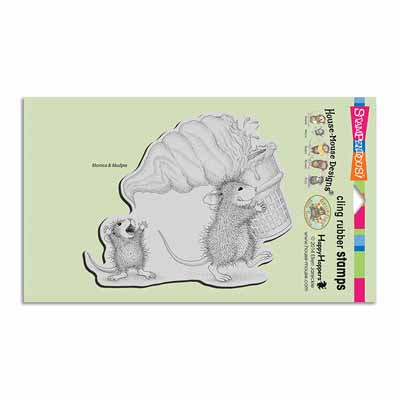 CLING SOFT SERVE SPILL - House-Mouse Rubber Stamp
