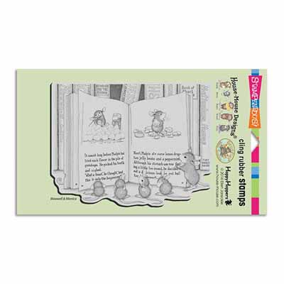 CLING MUDPIE TALE - House-Mouse Rubber Stamp
