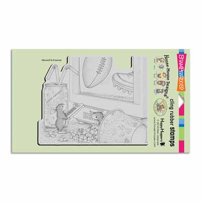 CLING GAME DAY - House-Mouse Rubber Stamp
