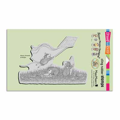 CLING KITE FLIGHT - House-Mouse Rubber Stamp