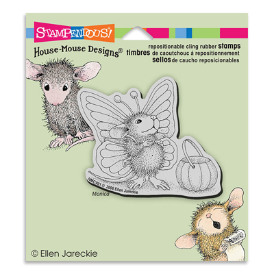 CLING MONICA FLUTTERBY - House-Mouse Rubber Stamp