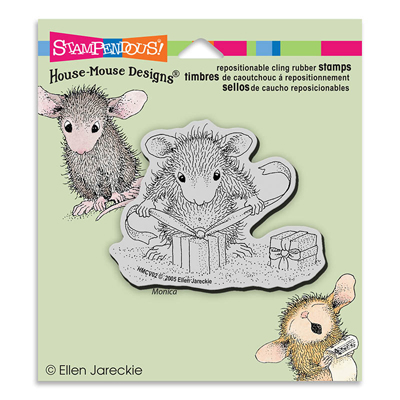 CLING GIFTS TO TIE - House-Mouse Rubber Stamp