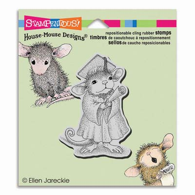 CLING GRADUATE - House-Mouse Rubber Stamp