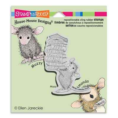 CLING STACK OF BOOKS - House-Mouse Rubber Stamp