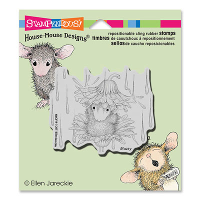 CLING Rain Flower - House-Mouse Rubber Stamp