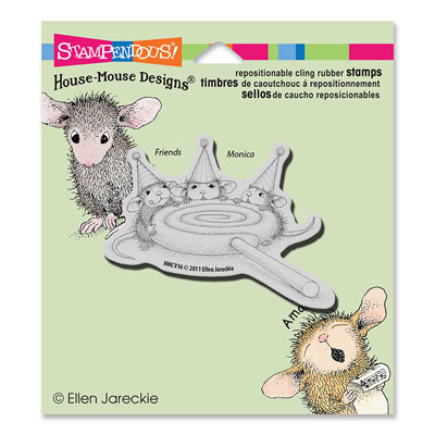 CLING Lollipop Lunch - House-Mouse Rubber Stamp