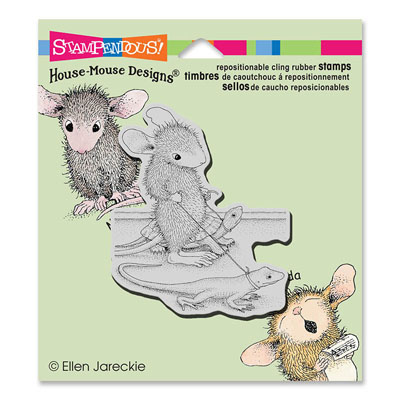 CLING Reptile Walk - House-Mouse Rubber Stamp