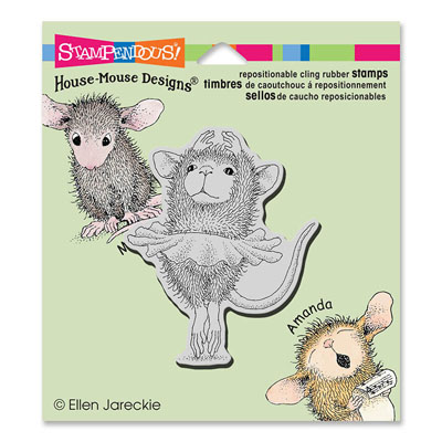 CLING Ballerina Baby - House-Mouse Rubber Stamp
