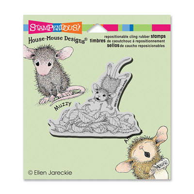 CLING LEAF PLUNGE - House-Mouse Rubber Stamp