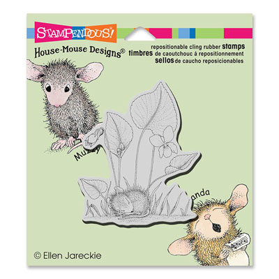 CLING VIOLET NAP - House-Mouse Rubber Stamp