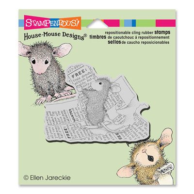 CLING CLASSIFIED AD - House-Mouse Rubber Stamp