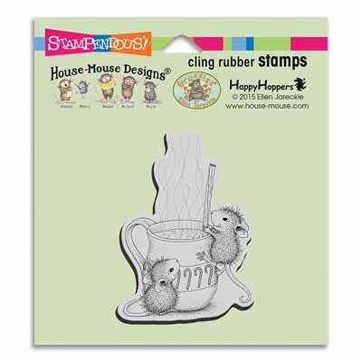 CLING Warm Drink - House-Mouse Rubber Stamp