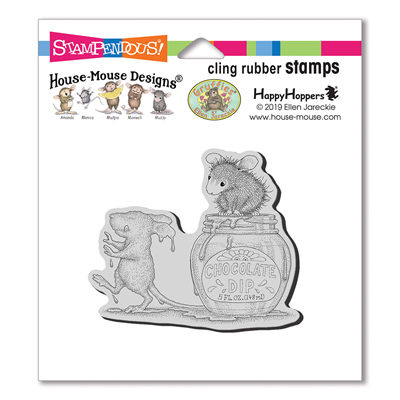 Chocolate Dip Rubber Stamp - House-Mouse Rubber Stamp