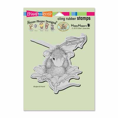 CLING GRASSHOPPER LEAP - House-Mouse Rubber Stamp