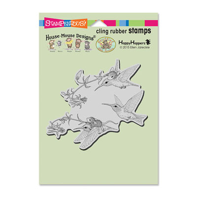 CLING Fuchsia Flight - House-Mouse Rubber Stamp