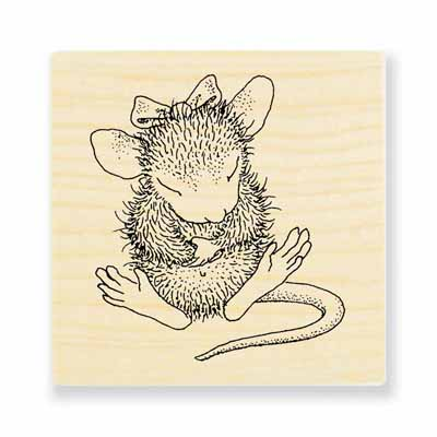SITTING PRETTY - House-Mouse Rubber Stamp