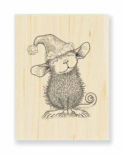 SANTA MOUSE - House-Mouse Rubber Stamp