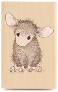 Hi! - House-Mouse Rubber Stamp