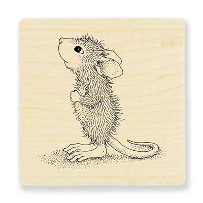 HOPEFUL MOUSE - House-Mouse Rubber Stamp